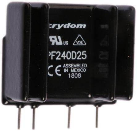 Sensata / Crydom 25 A rms Solid State Relay, Zero Cross, PCB Mount, SCR, 280 V rms Maximum Load