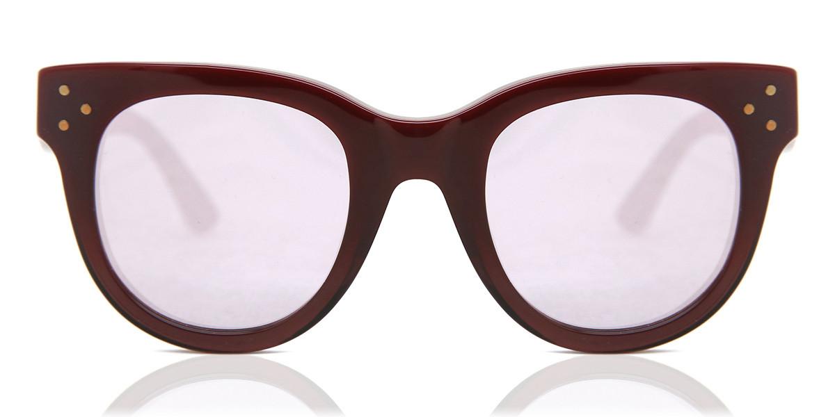 Spektre She Loves You SY04A Women's Sunglasses Burgundy Size 47
