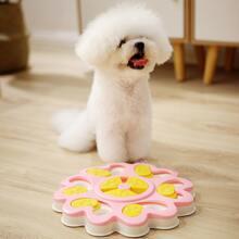 1 Stueck Hund Puzzle Spiel mit Blumen Design