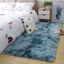 Solid Faux Fur  Floor Mat