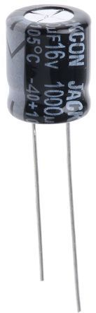 RS PRO 1000μF Electrolytic Capacitor 16V dc, Through Hole (25)