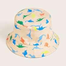 Sombrero cubo con estampado de dinosaurio