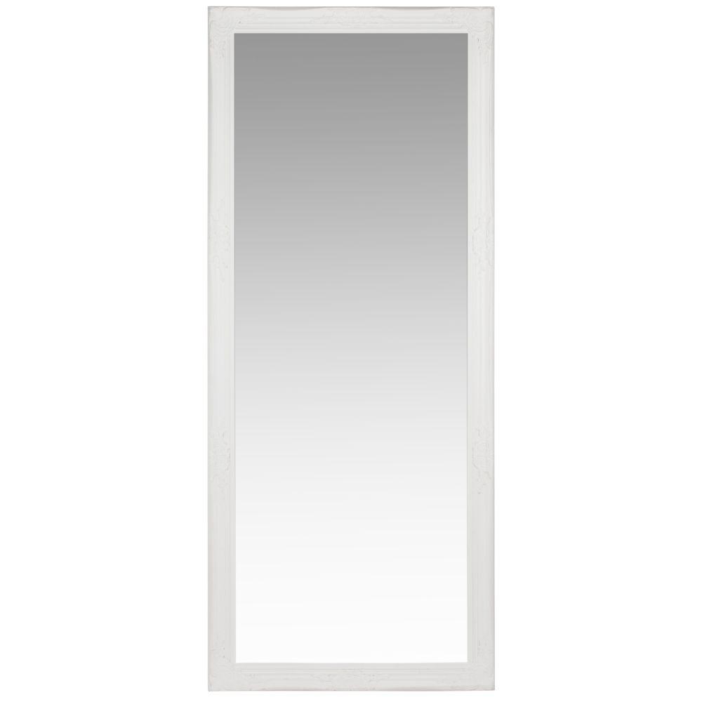 Spiegel mit Rahmen aus weissem Paulownienholz 80x190