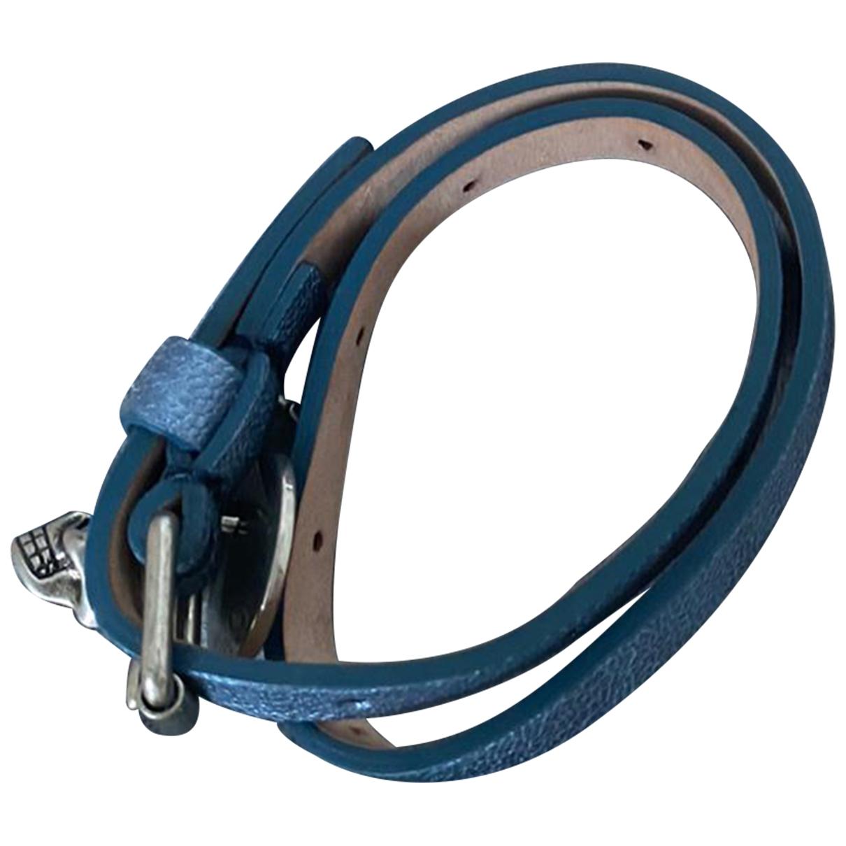 Alexander Mcqueen \N Armband in  Blau Leder