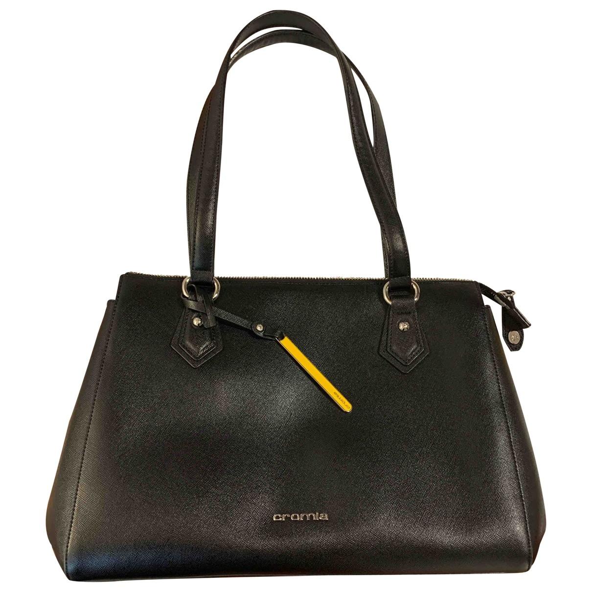 Cromia \N Handtasche in  Schwarz Leder
