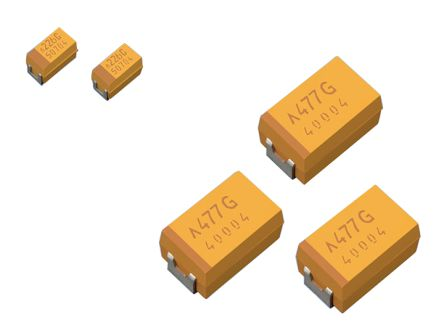 AVX Tantalum Capacitor 22μF 10V dc Polymer Solid ±20% Tolerance , TCJ (2000)