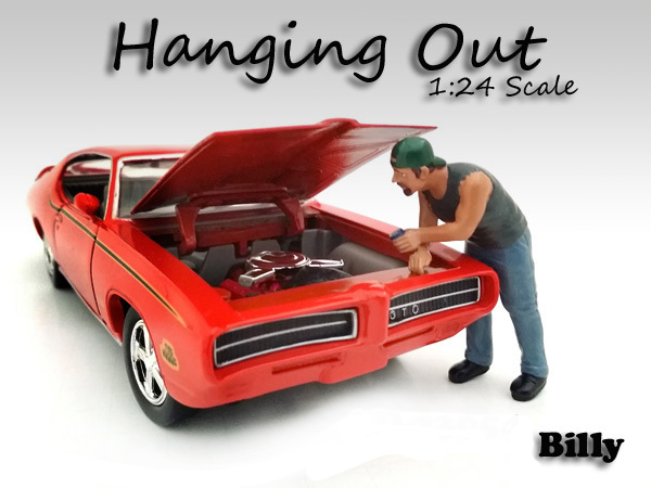Hanging Out Billy Figure for 1/24 Scale Models by American Diorama