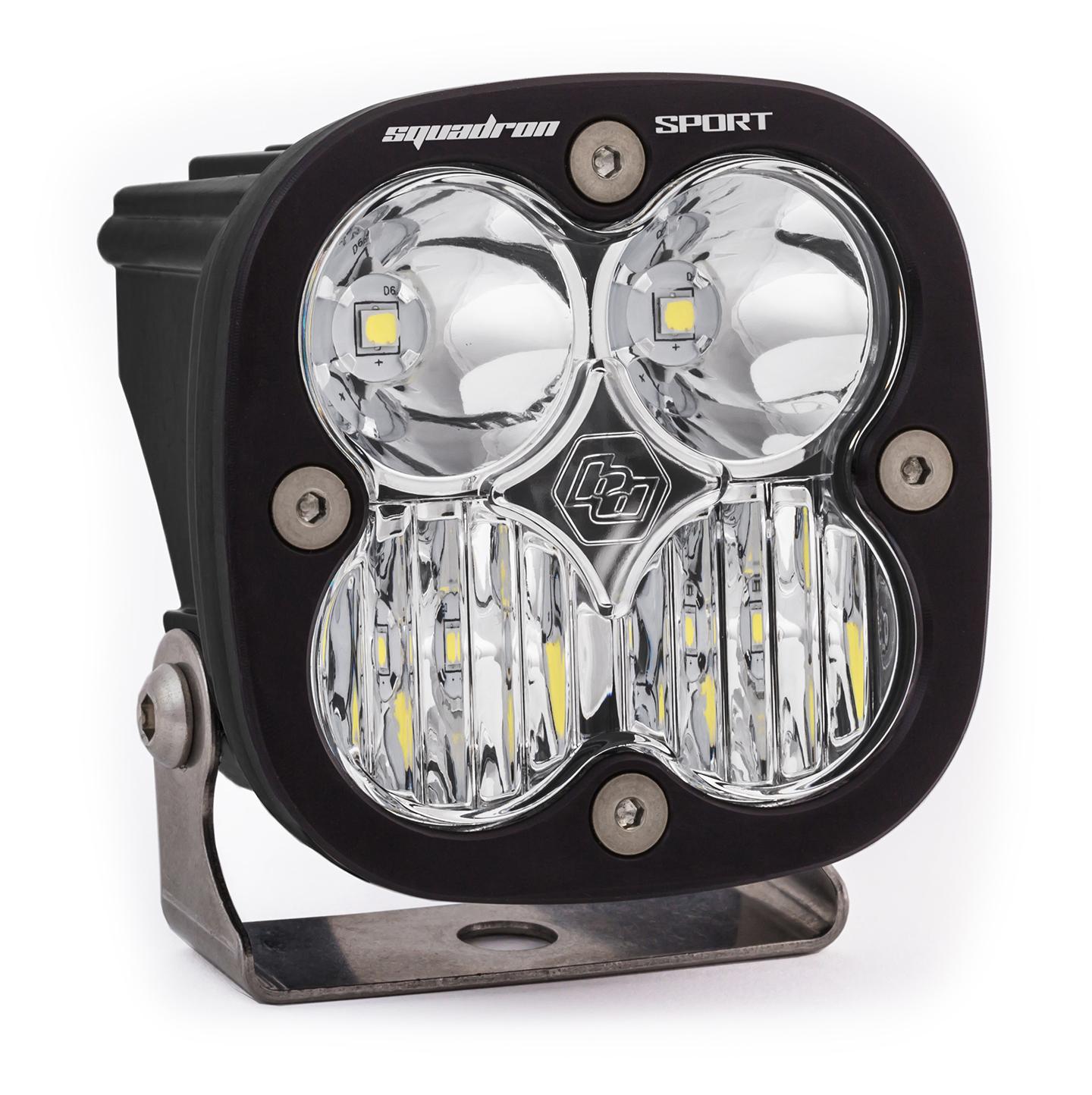 Baja Designs 550005 LED Light Pod Wide Cornering Pattern Clear Black Squadron Sport
