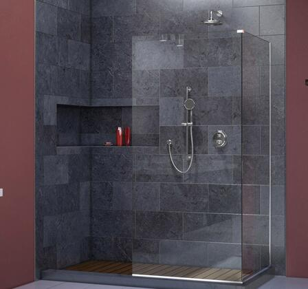 SHDR-3230343-01 Linea Two Adjacent Frameless Shower Screens 34 In. And 30 In. W X 72 In. H  Open Entry Design In