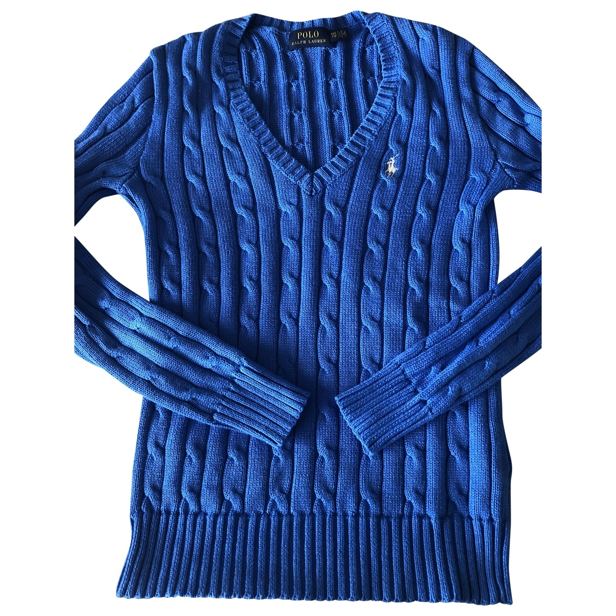 Polo Ralph Lauren \N Blue Cotton Knitwear for Women XXS International