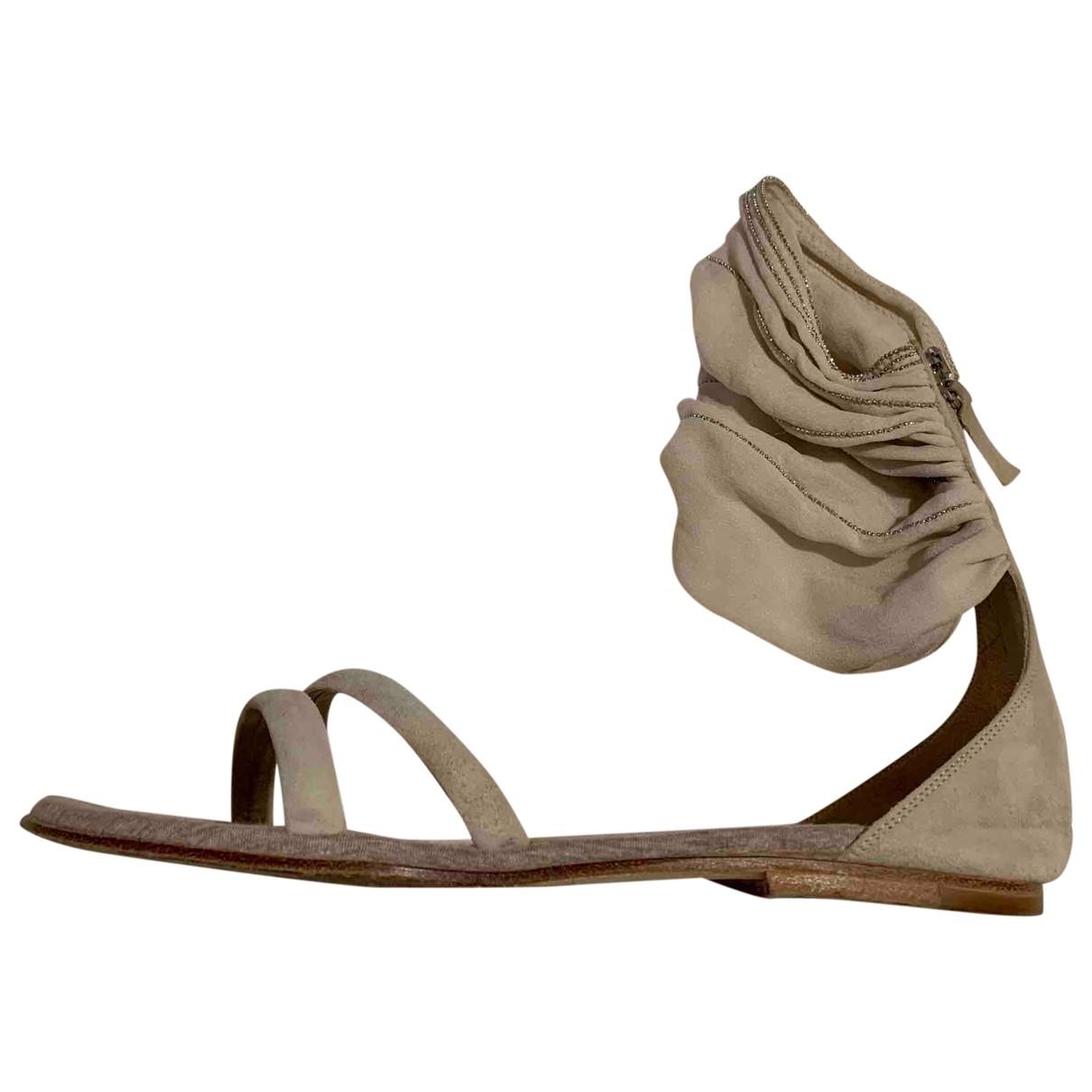 Brunello Cucinelli \N Grey Suede Sandals for Women 37 IT