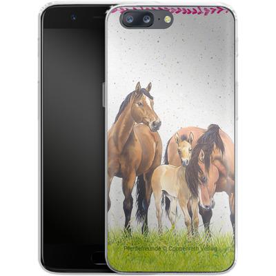 OnePlus 5 Silikon Handyhuelle - Pferdefreunde Familie von Pferdefreunde