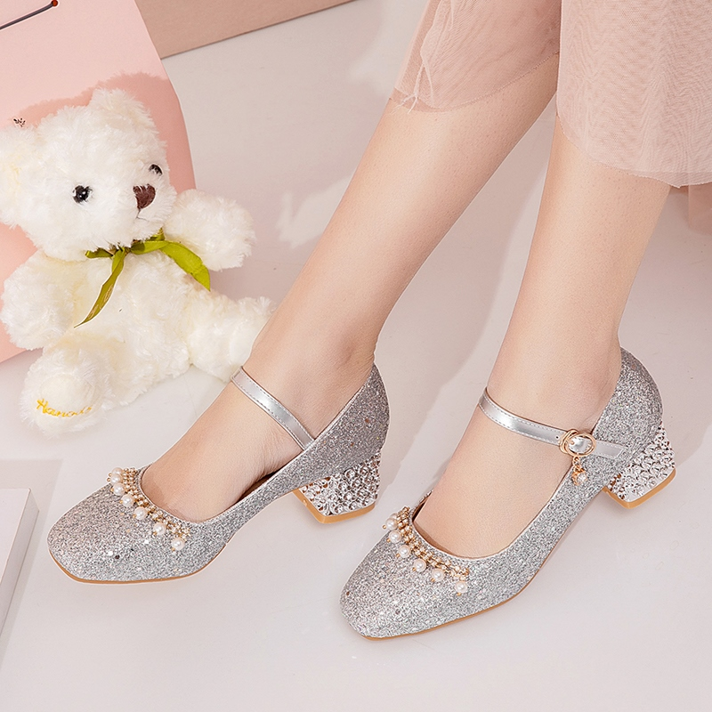 Ericdress Buckle Thread Square Toe 4.5cm Thin Shoes