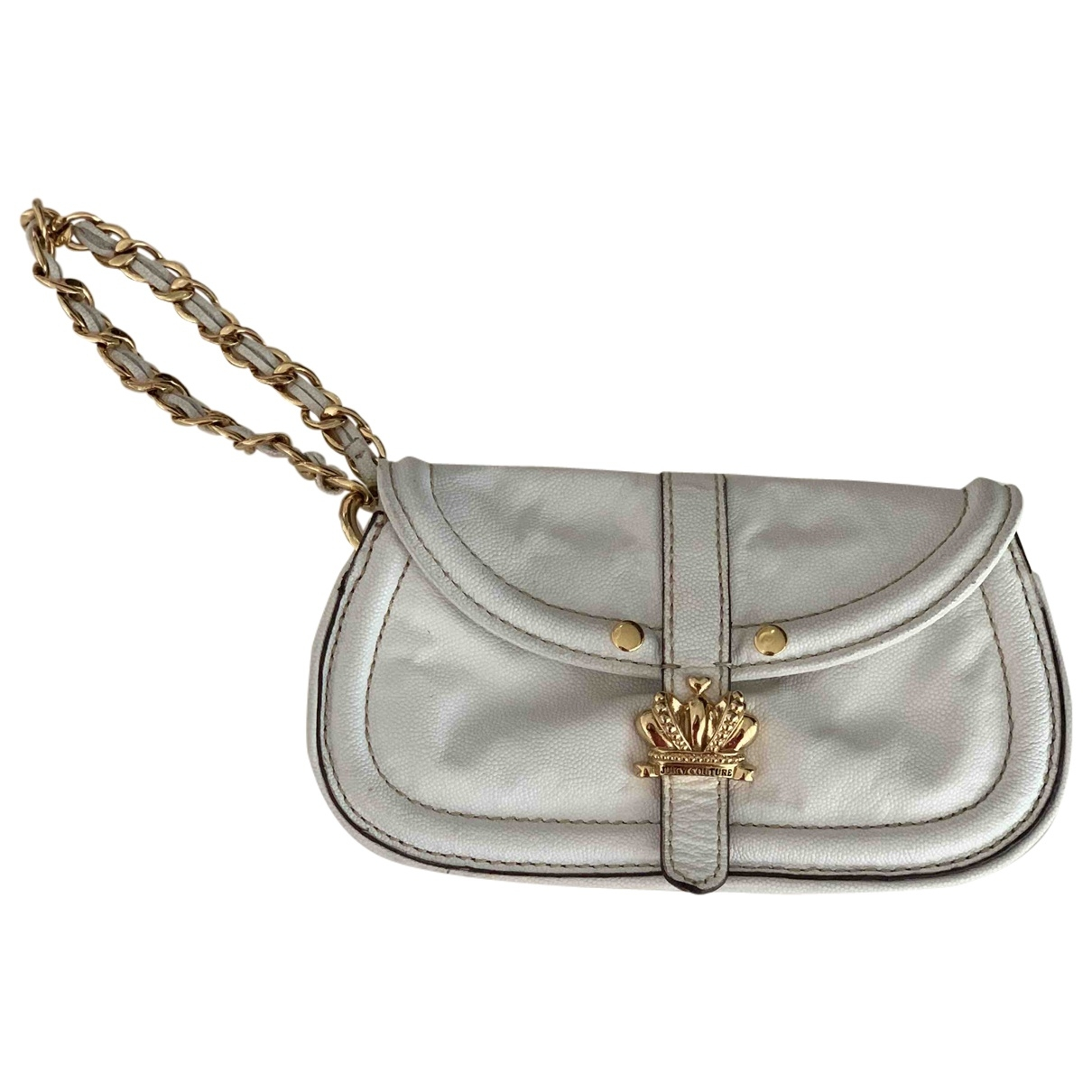 Juicy Couture \N Clutch in  Weiss Leder