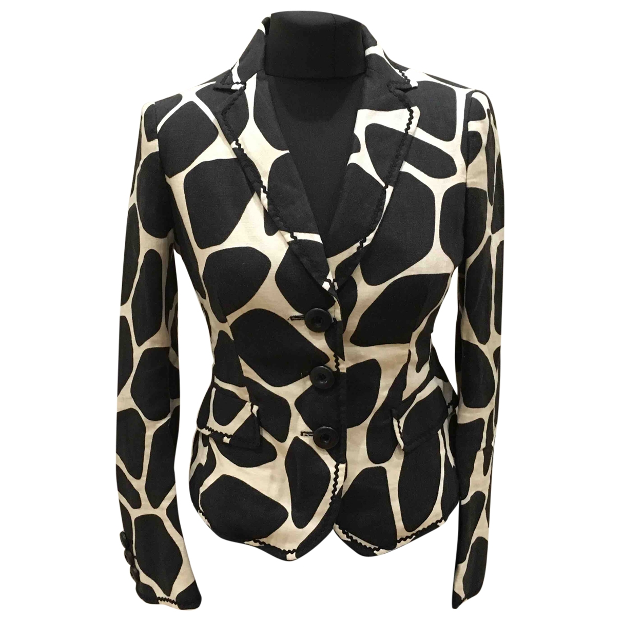 Moschino Cheap And Chic \N Jacke in  Bunt Leinen