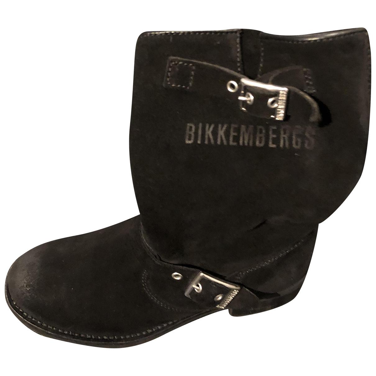 Dirk Bikkembergs - Boots   pour femme en suede - noir