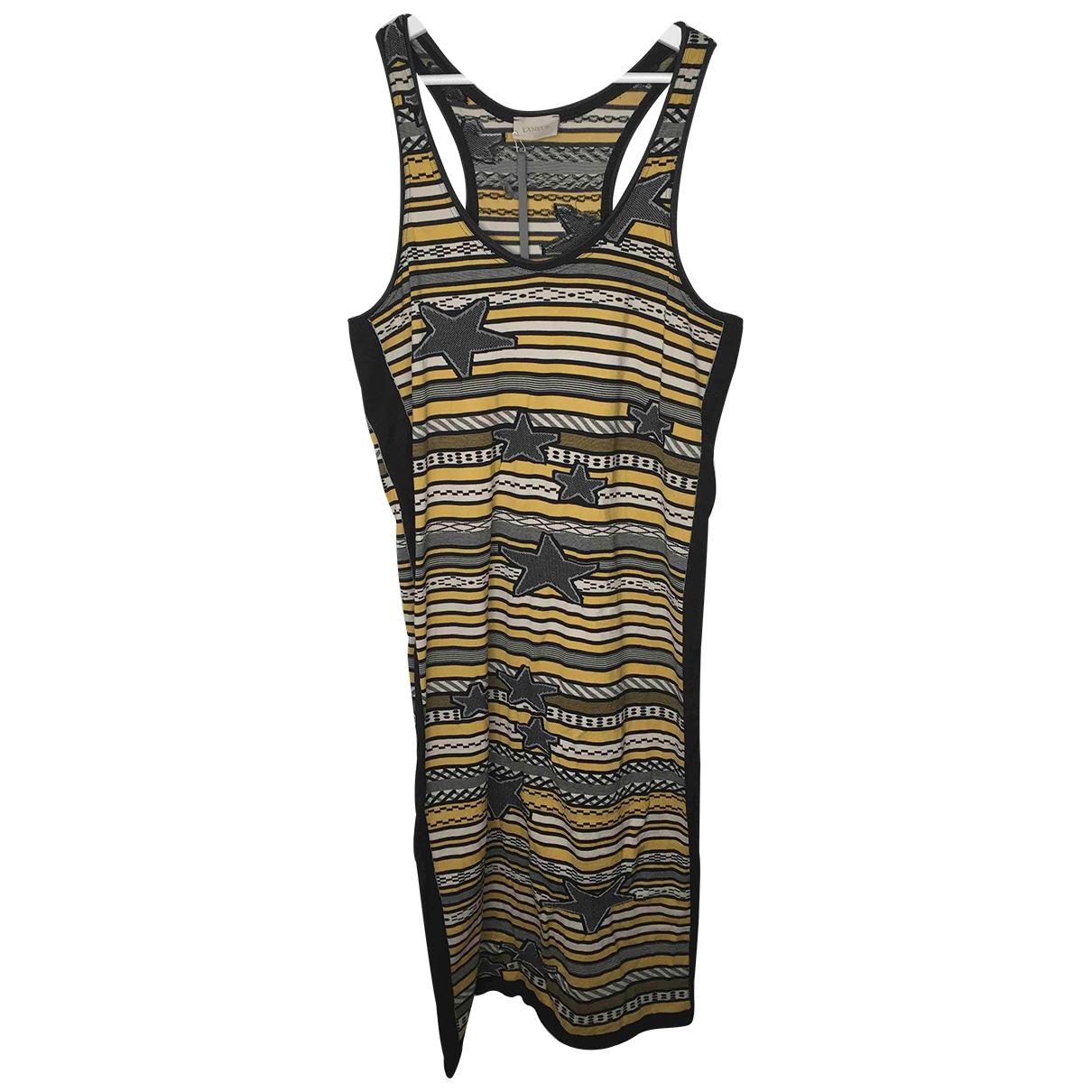 Laneus \N Kleid in Baumwolle - Elasthan