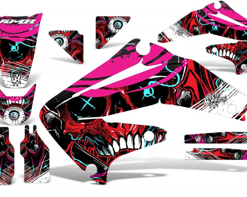 AMR Racing Dirt Bike Graphics Kit Decal Sticker Wrap For Honda CRF450R 2002-2004áFRENZY RED