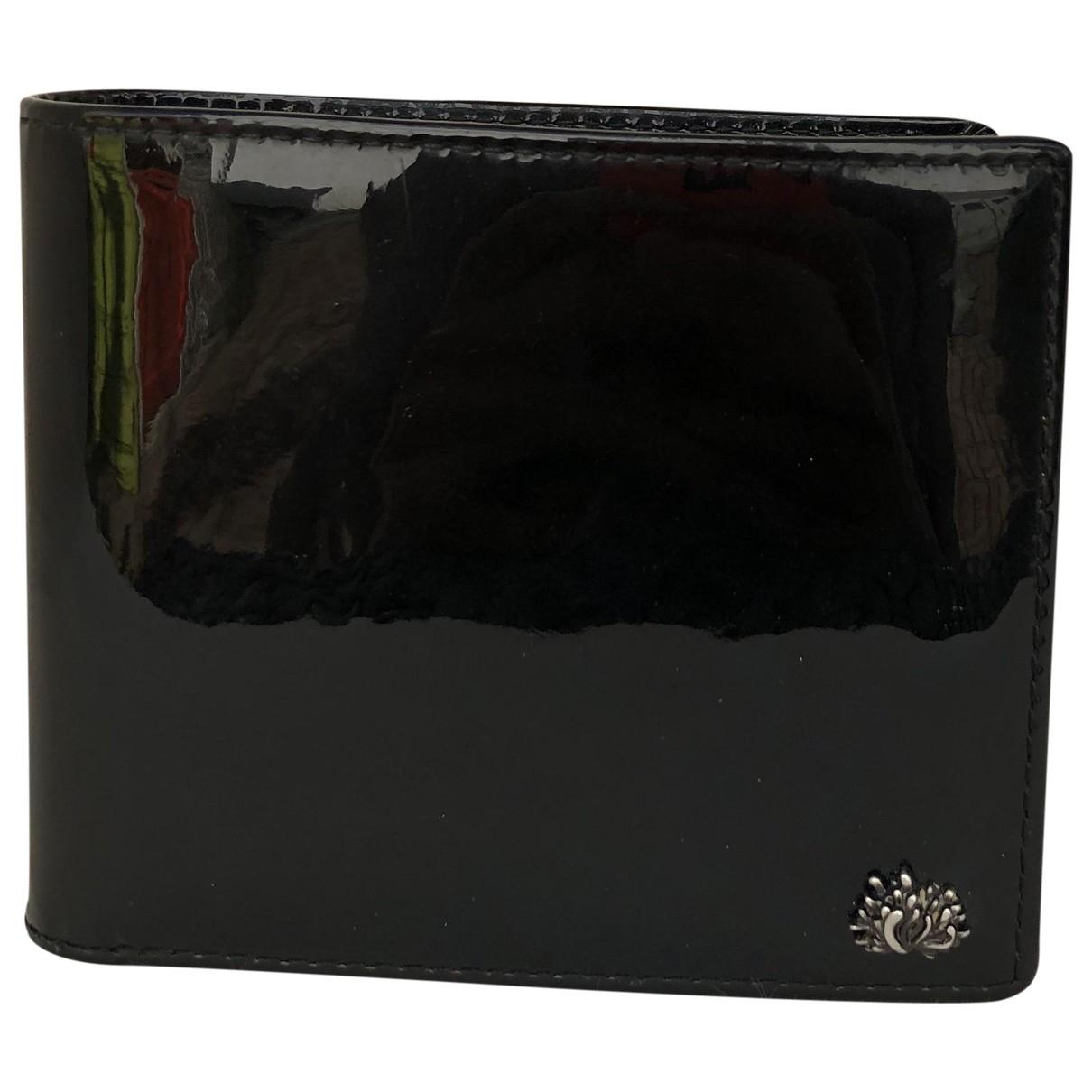 Kenzo - Petite maroquinerie   pour homme en cuir verni - noir