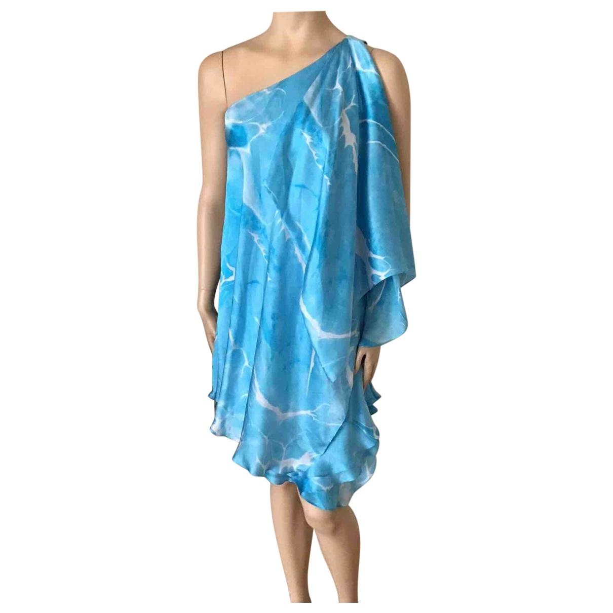 Ralph Lauren - Robe   pour femme en soie - bleu