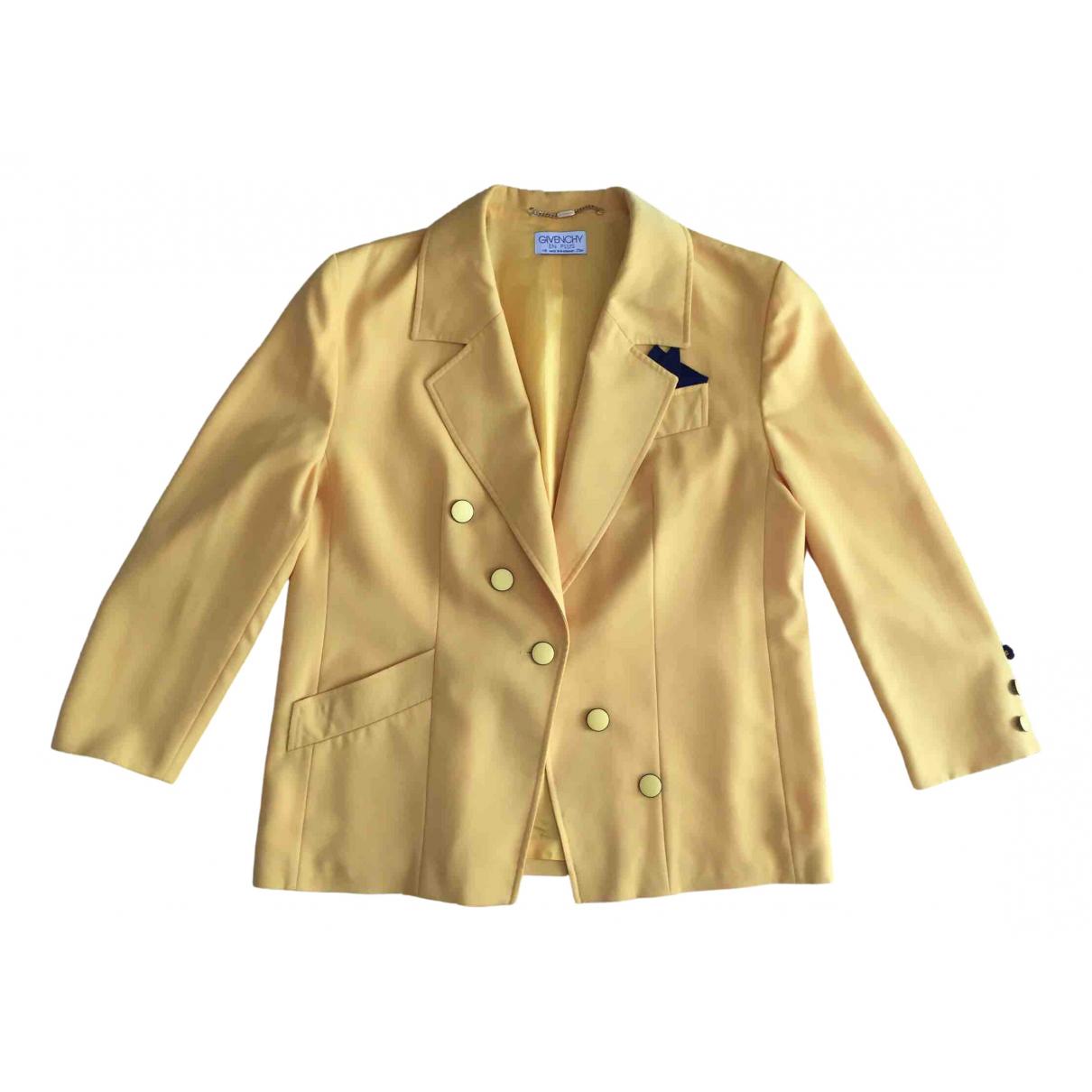 Givenchy - Veste   pour femme en laine - jaune