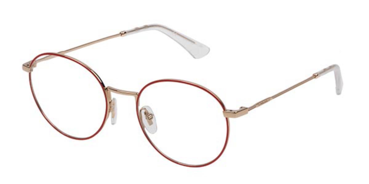 Police VPL665 HIGHWAY 7 0357 Men's Glasses Red Size 50 - Free Lenses - HSA/FSA Insurance - Blue Light Block Available