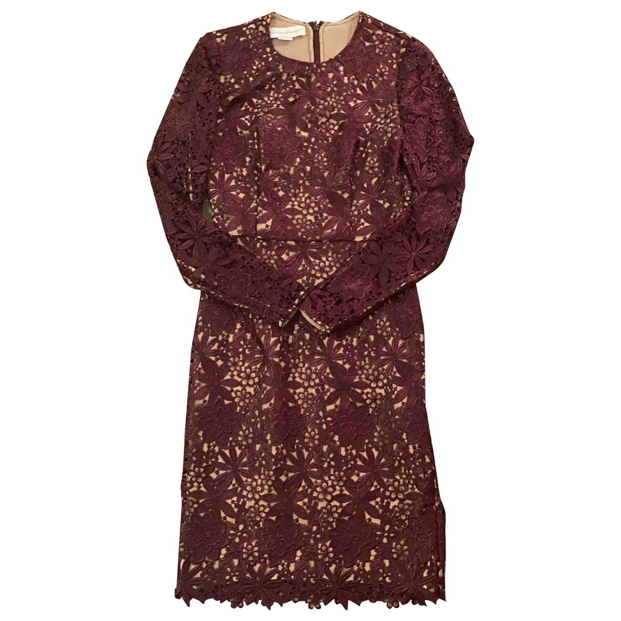 Stella Mccartney \N Kleid in  Bordeauxrot Spitze