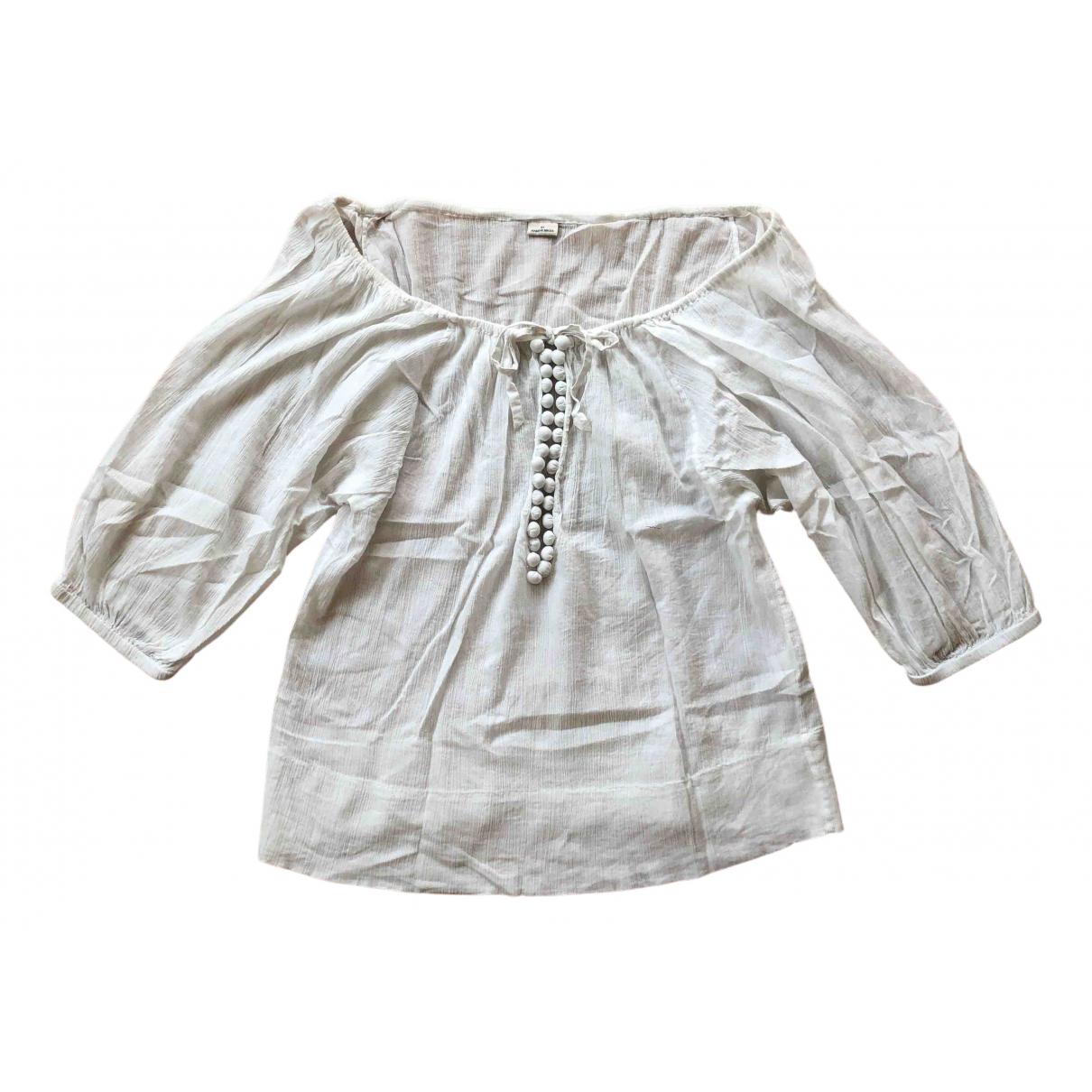 By Malene Birger - Top   pour femme en coton - blanc