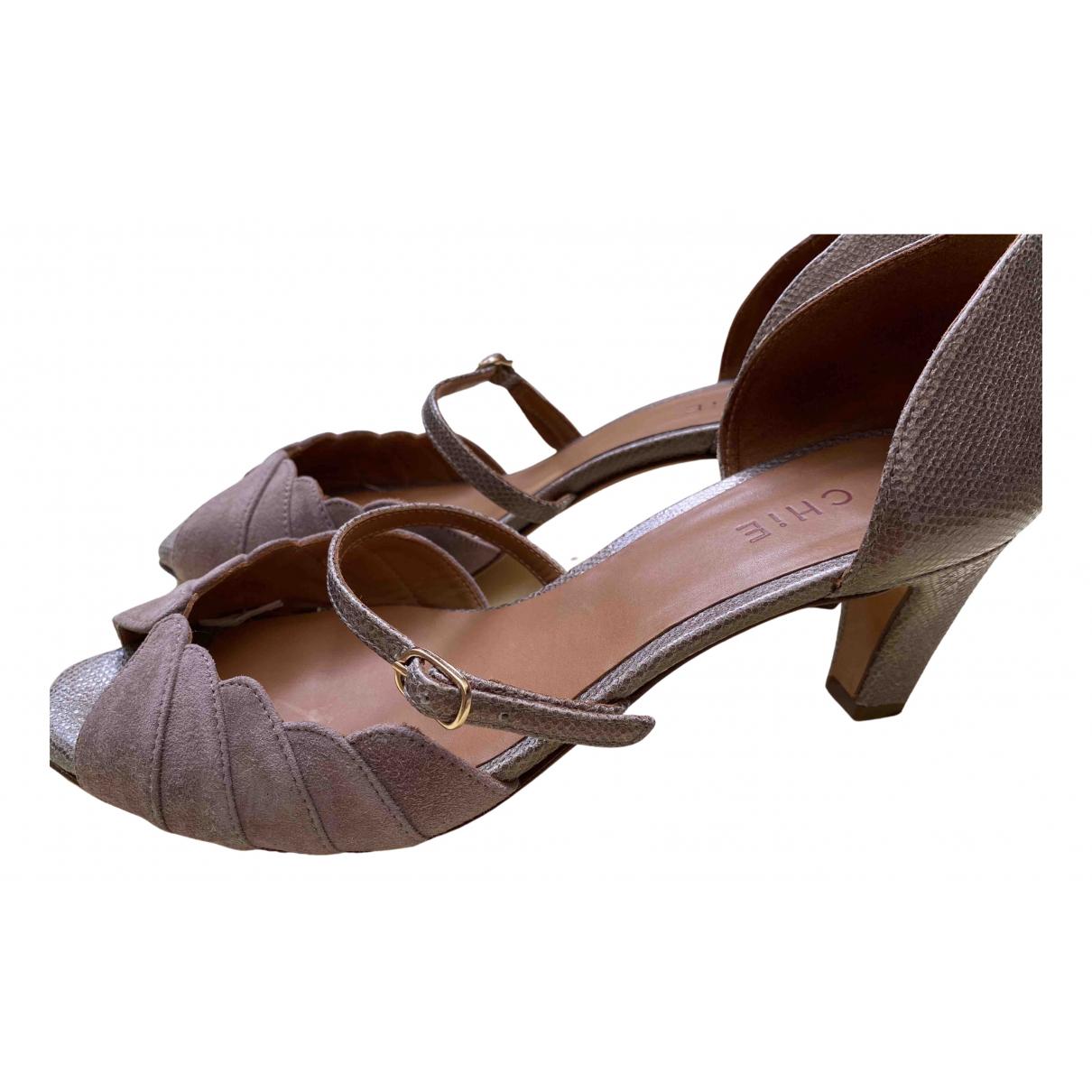Chie Mihara N Beige Leather Heels for Women 38 EU