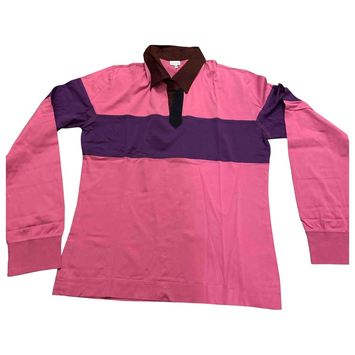 Paul Smith - Polos   pour homme en coton - rose