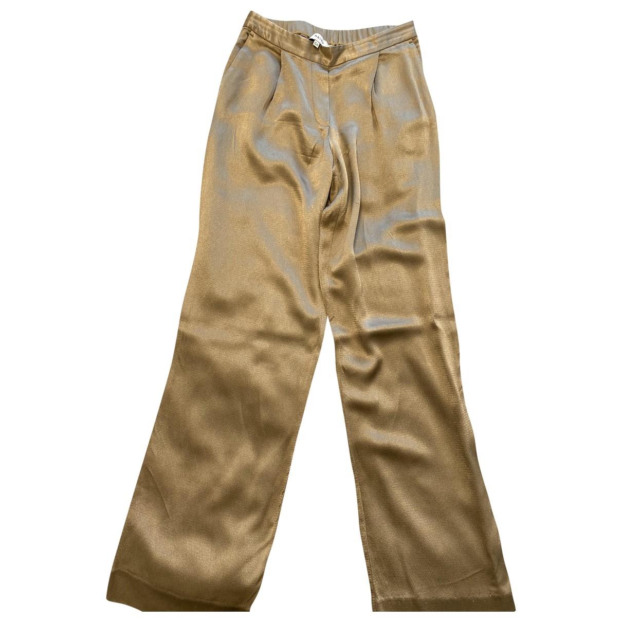 Pantalon recto de Seda Reiss