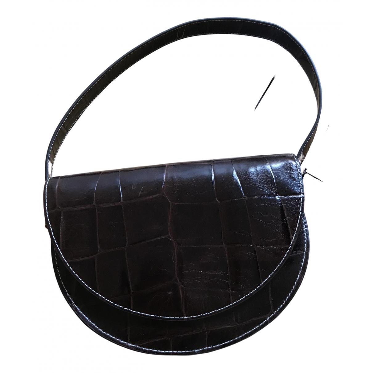 Staud \N Brown Leather handbag for Women \N
