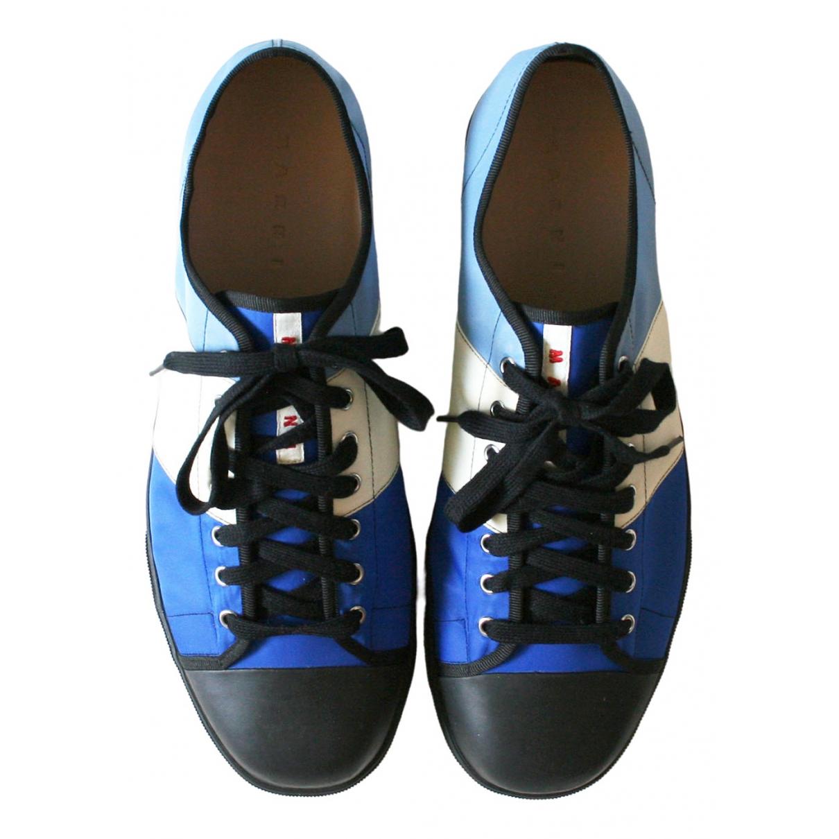 Marni - Baskets   pour homme en toile - bleu