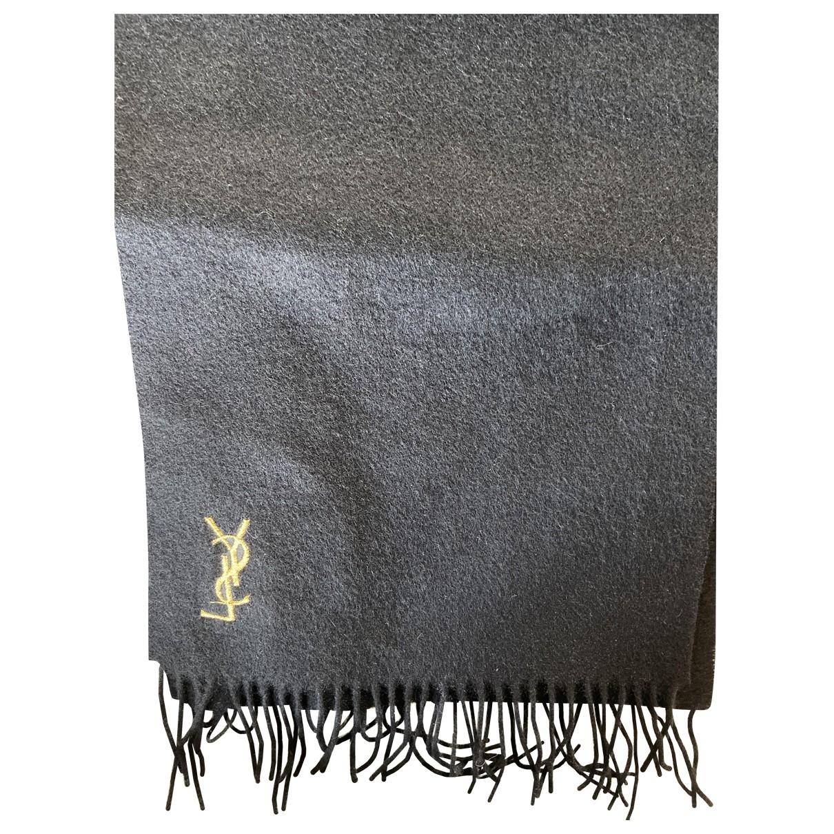 Yves Saint Laurent \N Black Wool scarf for Women \N