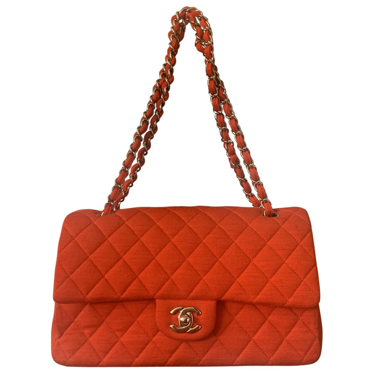 Chanel Timeless/Classique Red Wool handbag for Women N
