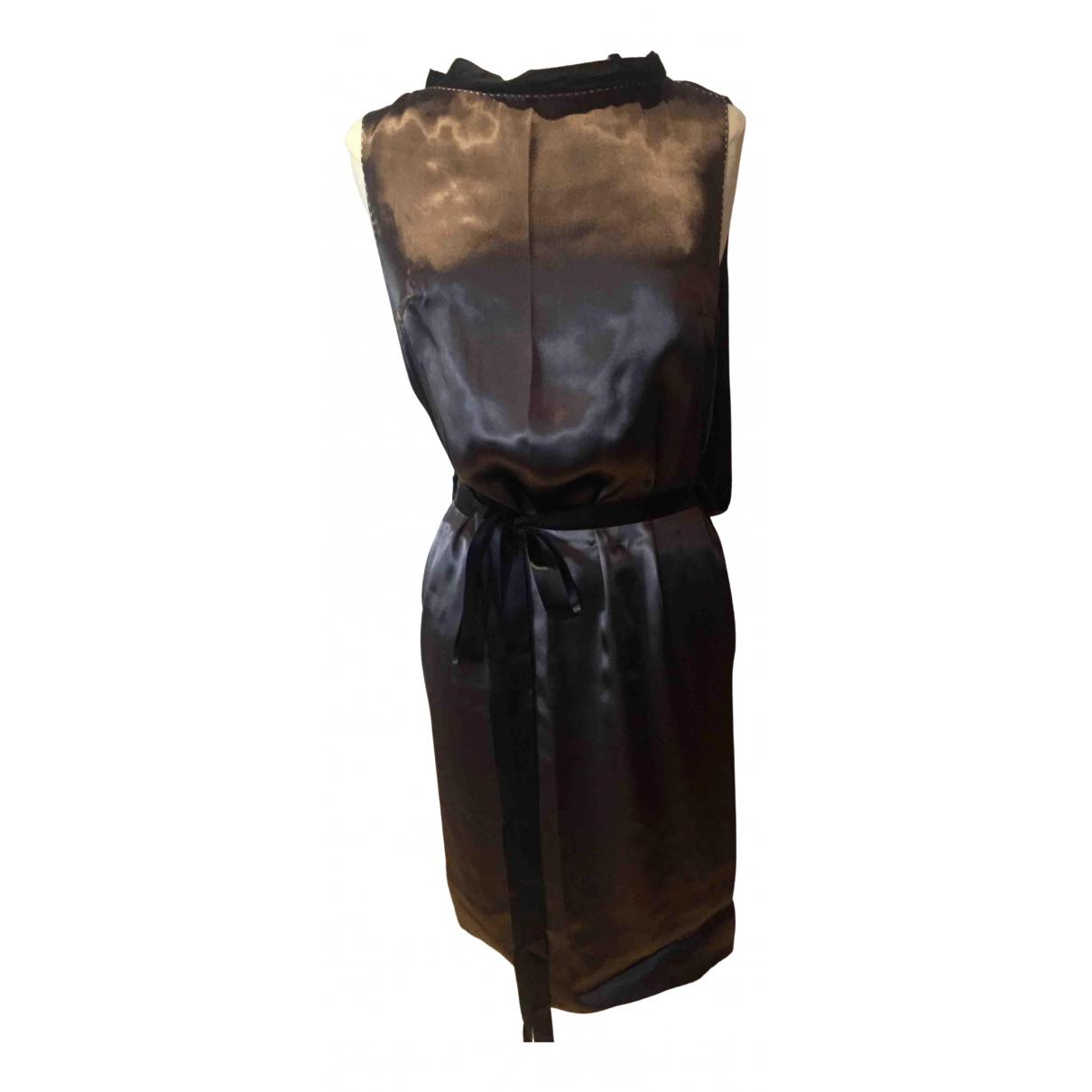 Lanvin \N Kleid in  Grau Seide