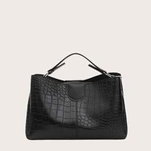 Bolsa cartera con diseño de cocodrilo