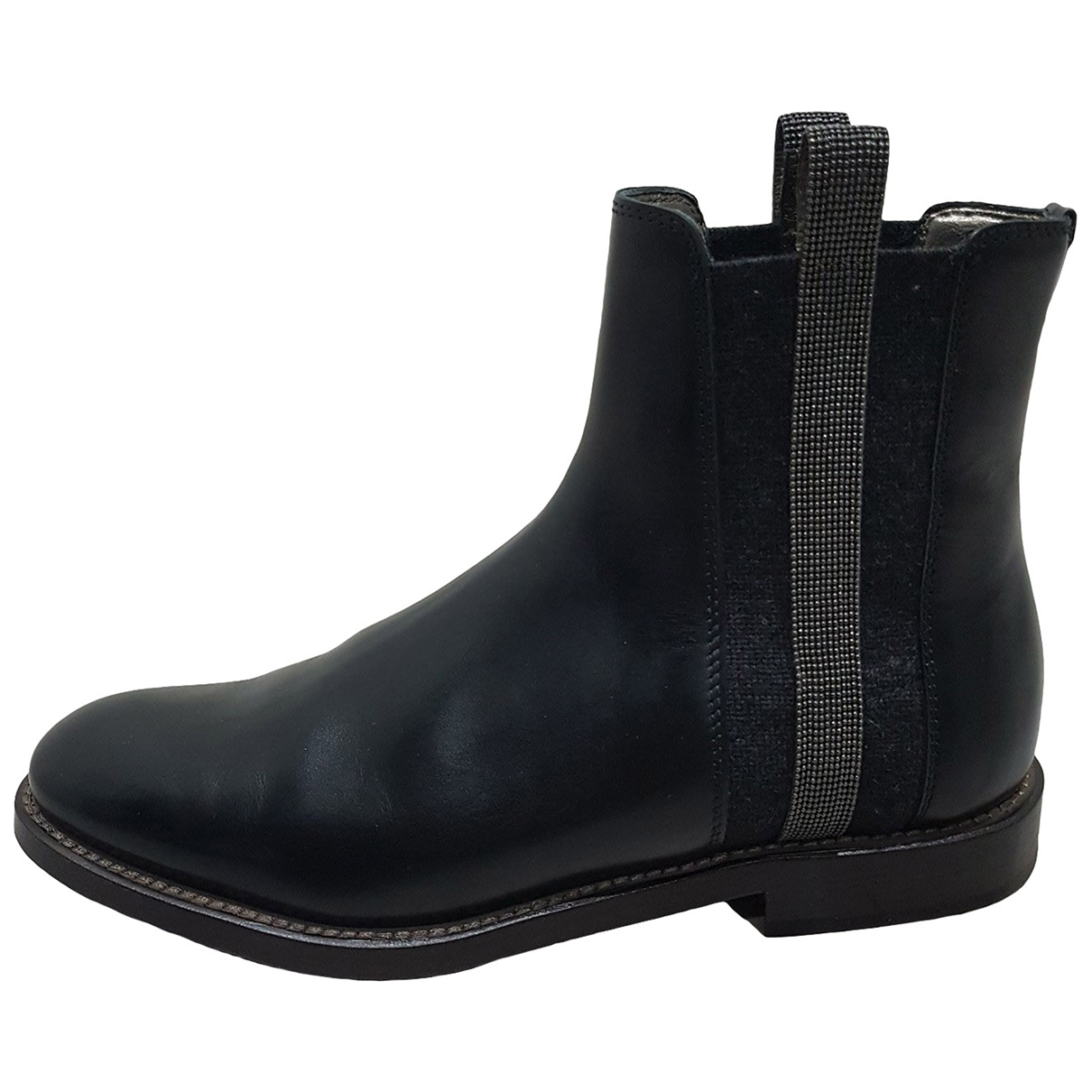 Brunello Cucinelli \N Black Leather Ankle boots for Women 35.5 EU