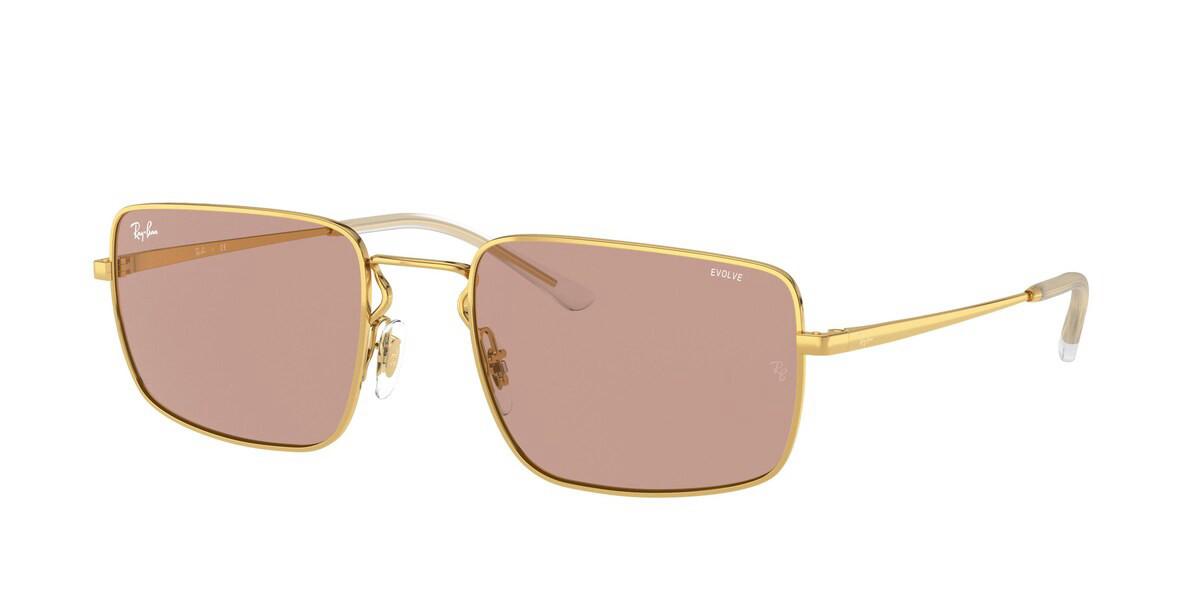 Ray-Ban RB3669 001/Q4 Men's Sunglasses Gold Size 55