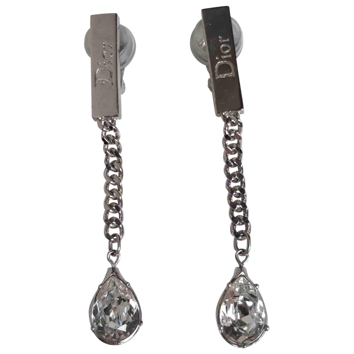 Christian Dior - Boucles doreilles   pour femme en metal - argente