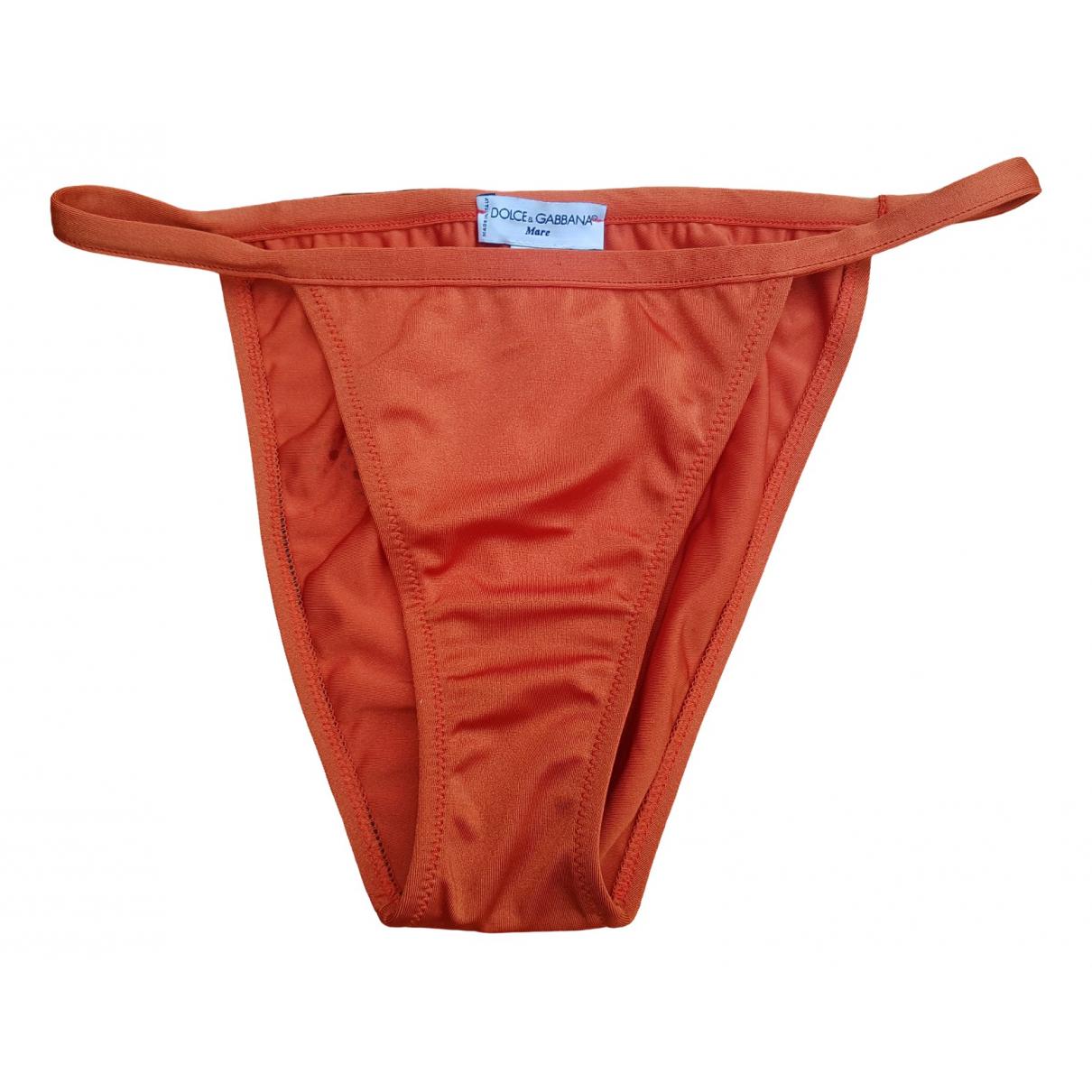 Dolce & Gabbana \N Badeanzug in  Orange Synthetik