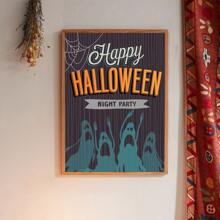 Wandmalerei mit Halloween Geist Muster ohne Rahmen