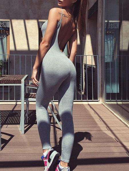 Yoins Backless Design Sleeveless Jumpsuit