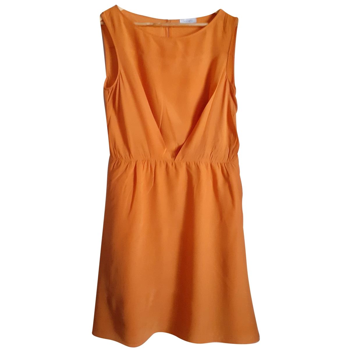 Max & Co - Robe   pour femme en soie - orange