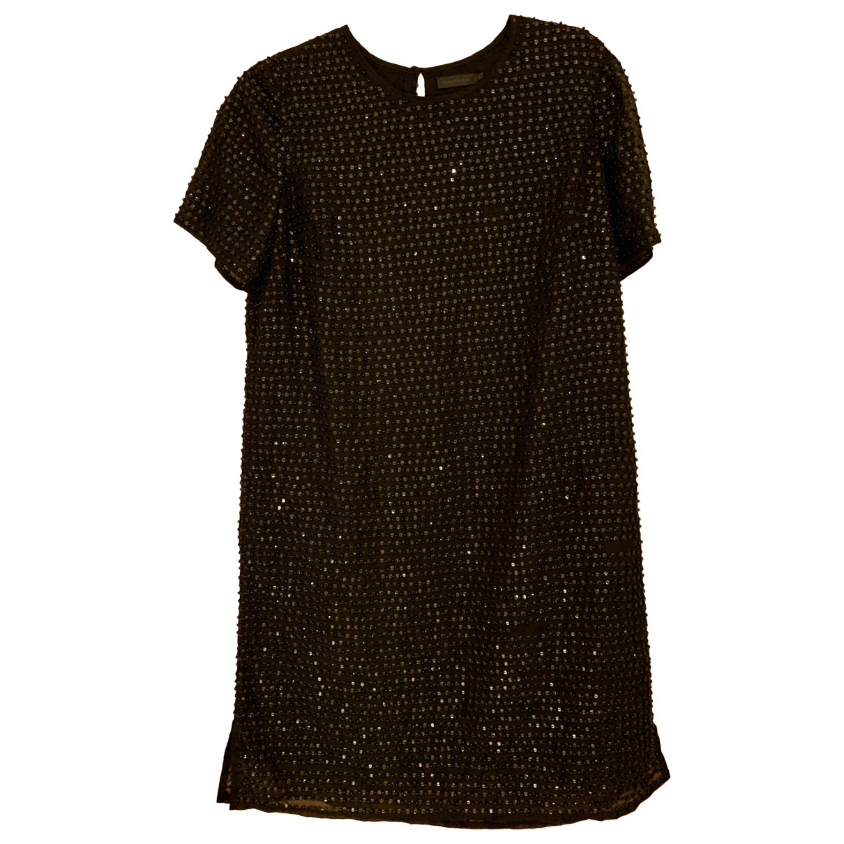 Calvin Klein - Robe   pour femme en a paillettes - noir