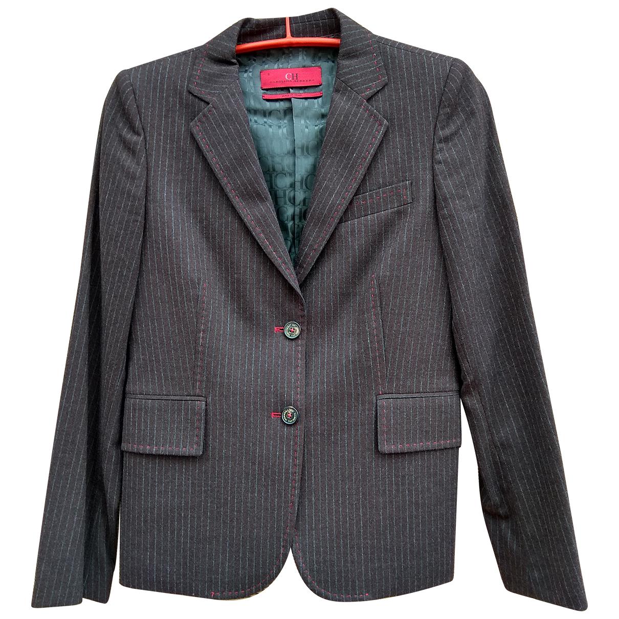 Carolina Herrera - Veste   pour femme en laine - marron