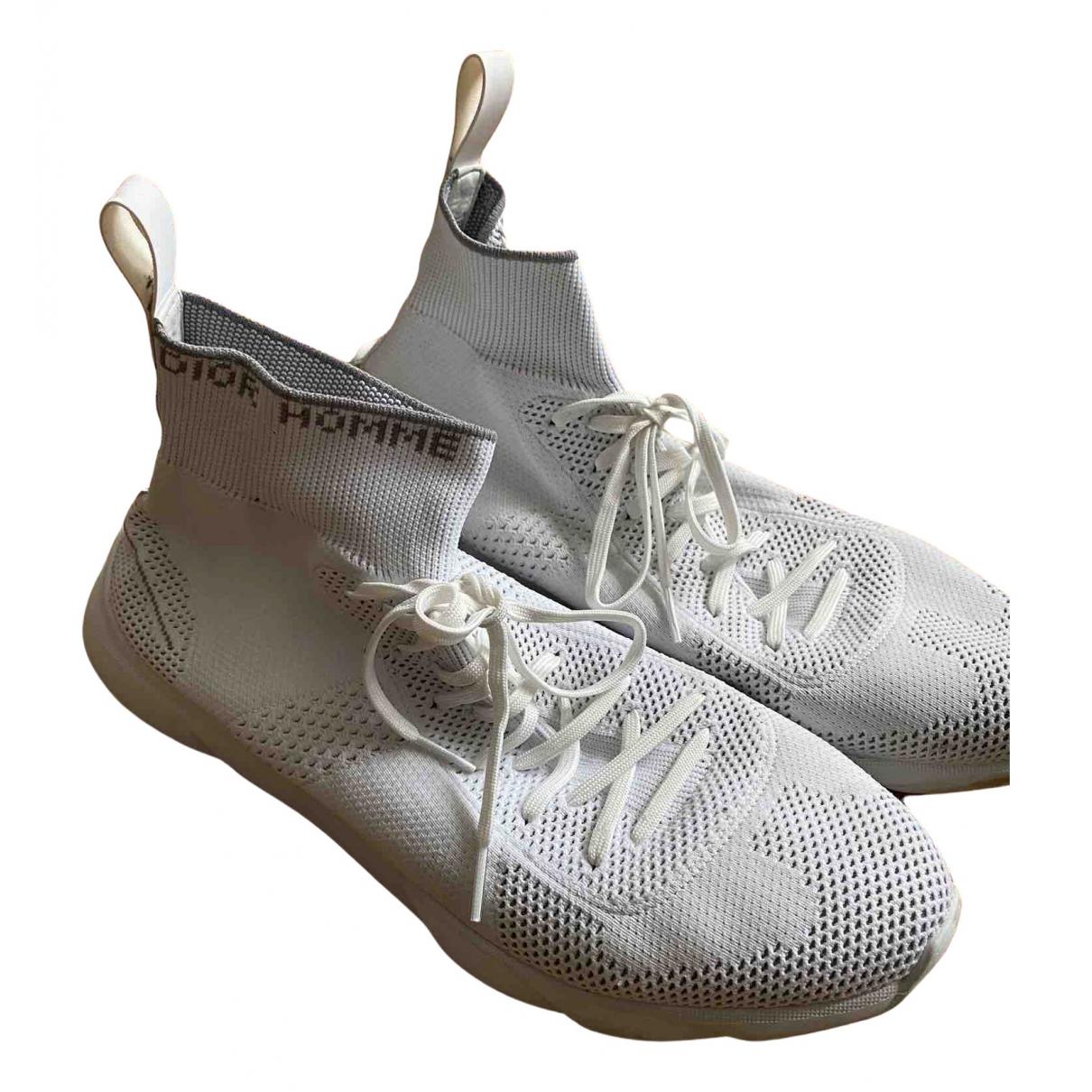Dior Homme - Baskets B21 socks pour homme en toile - blanc