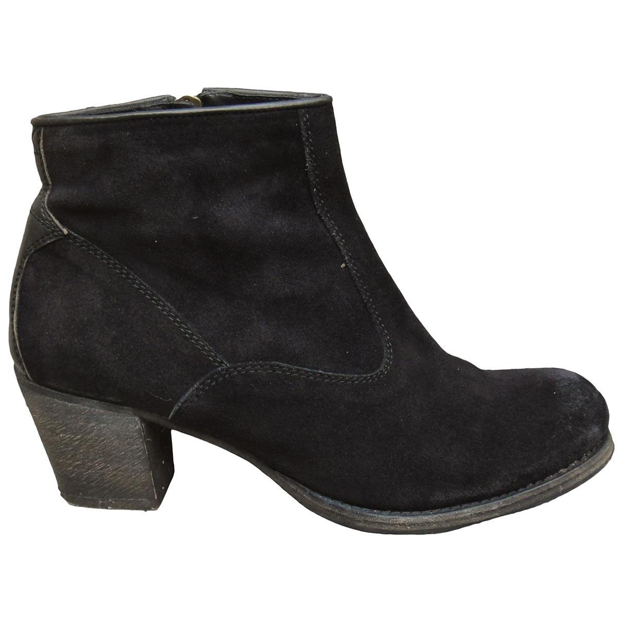 N.d.c. Made By Hand - Boots   pour femme en suede - noir