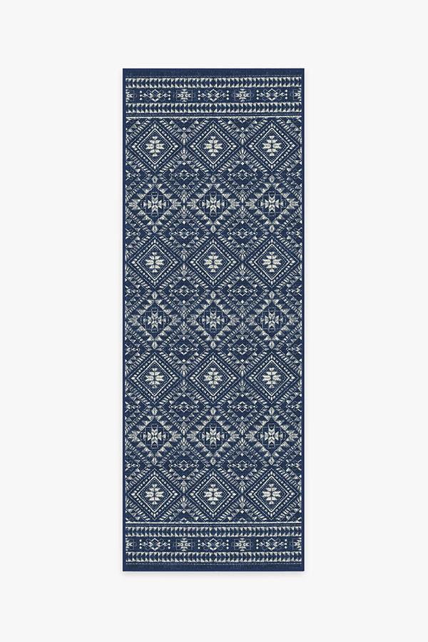 Washable Rug Cover | Outdoor Nomada Navy Rug | Stain-Resistant | Ruggable | 2.5x7