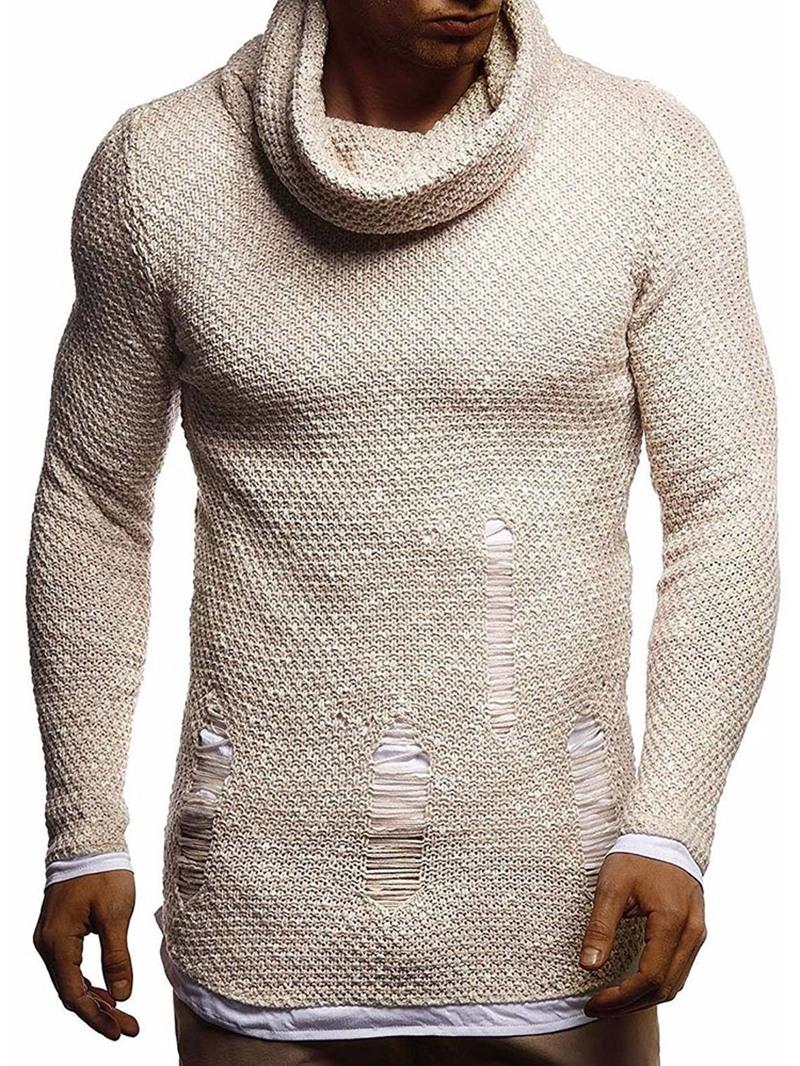 Ericdress Standard Hole Heap Collar Fall Slim Sweater